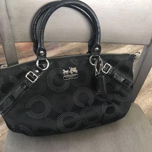 Black classic C coach satchel